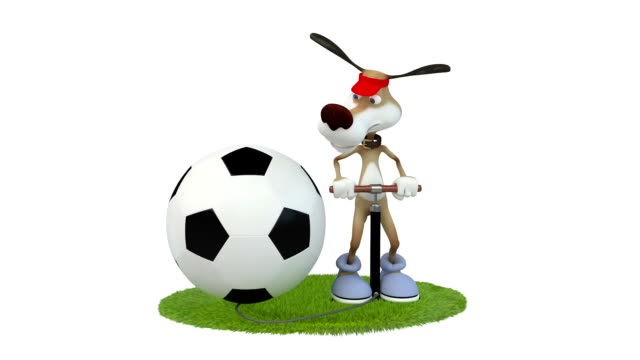Divertido-3d-perro-jugador-de-fútbol-