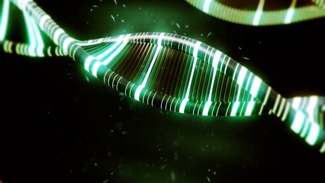Green-DNA-with-glow-effects-slow-animation
