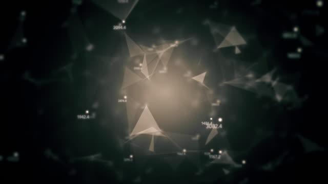 Resumen-sin-costura-loop-generado-por-ordenador-geométricas-caótica-propuesta-de-movimiento-lento-de-puntos-líneas-triángulos-aleatoria-de-números-de-fondo-