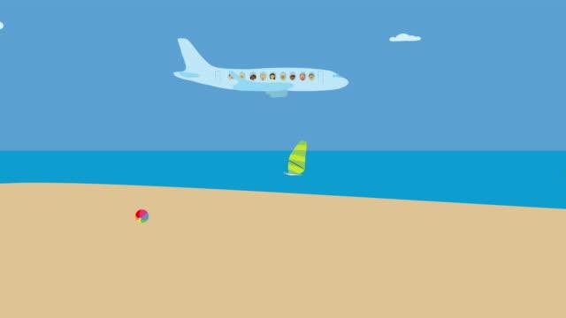 Avión-volando-sobre-la-playa-de-mar