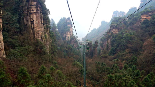 The-cable-car-crosses-in-Zhangjiajie-China