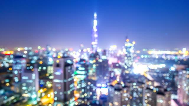 Un-lapso-de-tiempo-de-la-ciudad-de-nanjing-en-la-noche-china