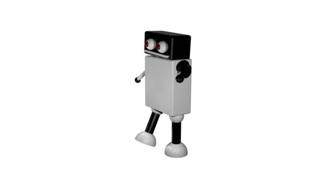 Fuß-Roboter-auf-isolierte-Hintergrund-3D-Rendering