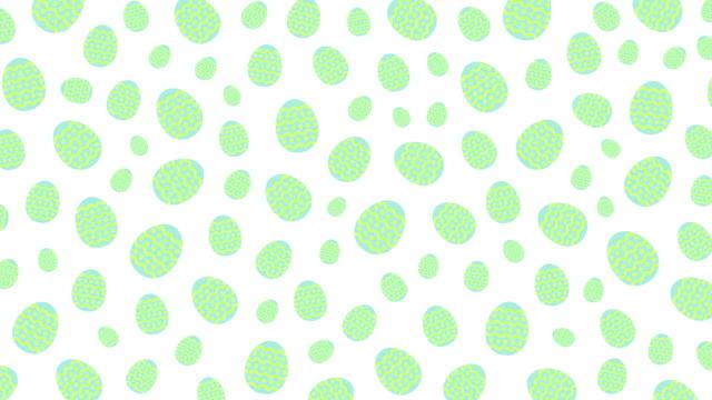 Huevos-de-Pascua-patrón-emergente-animación-loop-4K-sobre-fondo-blanco