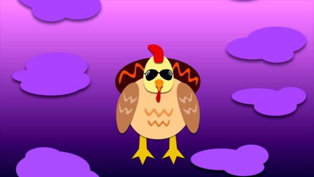 4K-Flying-Chicken-Animation---Endlos-wiederholbar