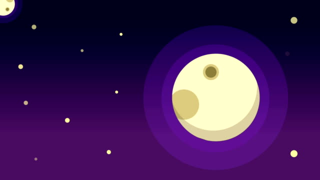 Animation-of-flat-style-space-background
