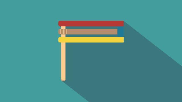 Purim-holiday-gragger-flat-design-animation-icon