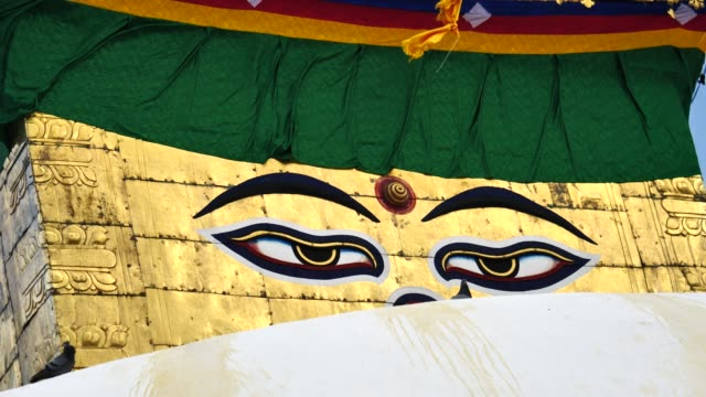 Swayambhunath-stupa-Eye-Buddha-Kathmandu