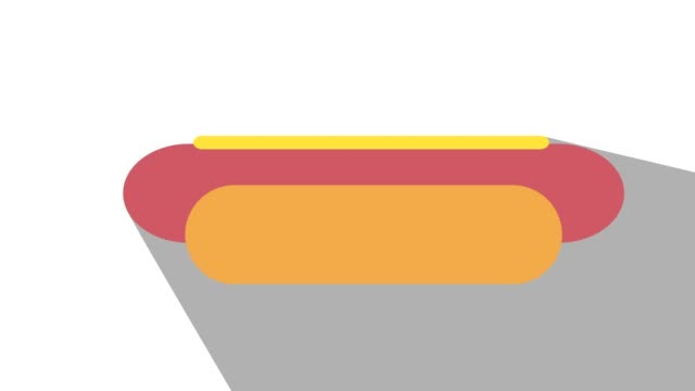 Hot-dog-fast-food-concept-on-off-animation-long-shadow