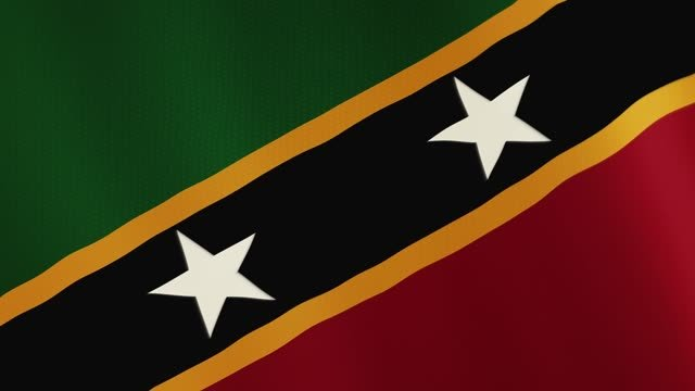 Saint-Kitts-and-Nevis-flag-waving-animation-Full-Screen-Symbol-of-the-country