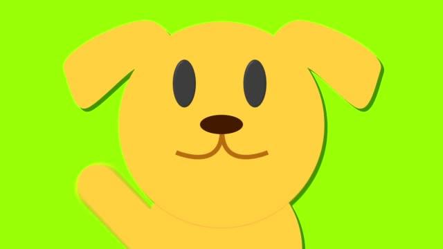 cute-cartoon-close-up-of-dog-golden-labrador-loop