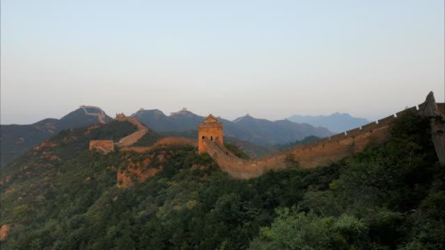 sunset-at-great-wall-of-china-jinshanling
