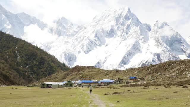 Nepalese-village-Bimthand-among-the-mountains-Manaslu-circuit-trek-