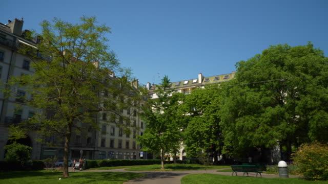 sunny-day-geneva-city-living-block-backyard-square-panorama-4k-switzerland