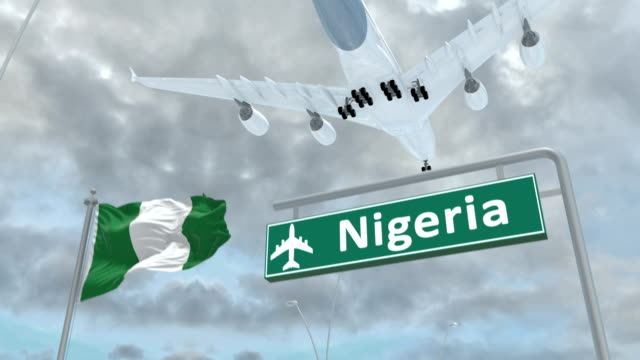 Nigeria-approach-of-the-aircraft-to-land