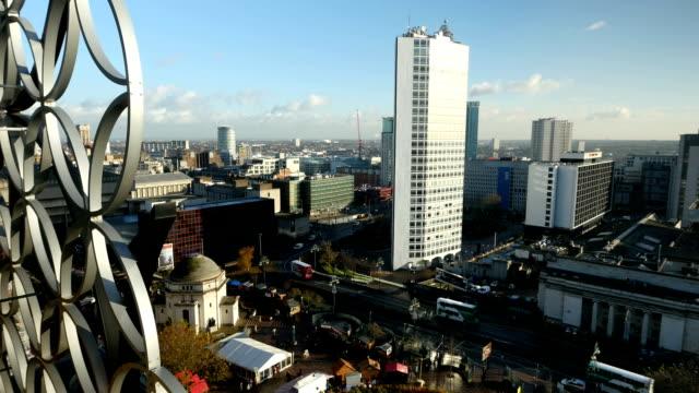 Birmingham-Reino-Unido-centro-de-la-ciudad-perfilados-contra-el-horizonte-