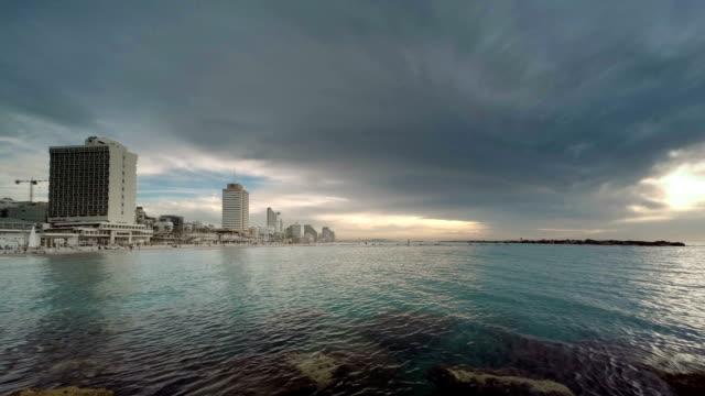 Tel-Aviv-city-Israel-winter-sunset-time-lapse