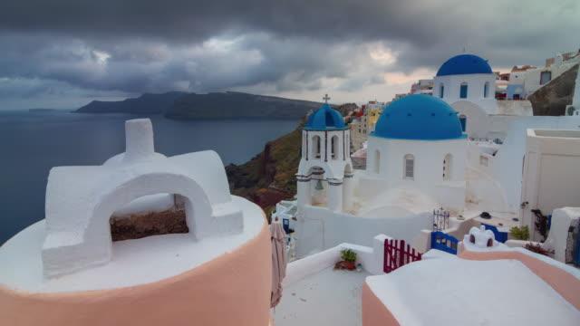"""panorama-de-la-costa-de-la-famosa-azotea-\""""ciudad-oia-tormenta-cielo-santorini-isla\""""-4-tiempo-k-caer-Grecia"""