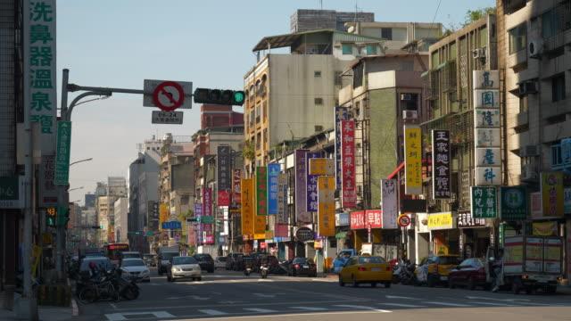 sunny-day-taipei-city-center-traffic-street-panorama-4k-taiwan
