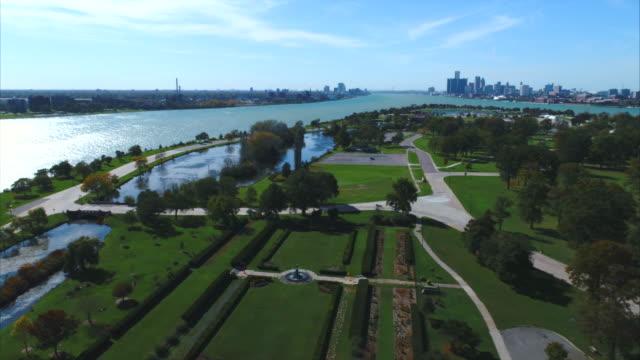 Belle-Isle-Park-in-Detroit-Luftbild