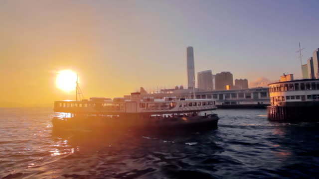Victoria-Harbour-Hong-Kong-at-sunset