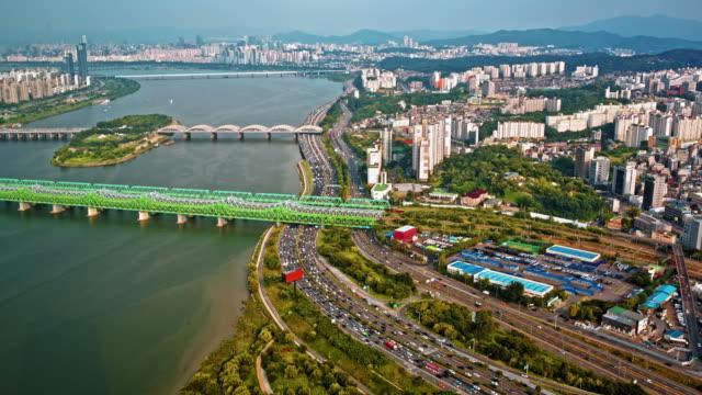 Modern-city-traffic-aerial-view