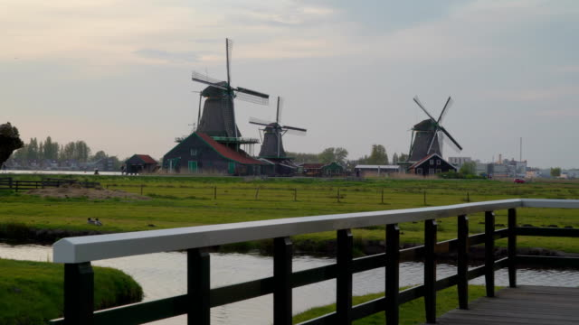 A-small-windmill-with-the-propeller-turning-around