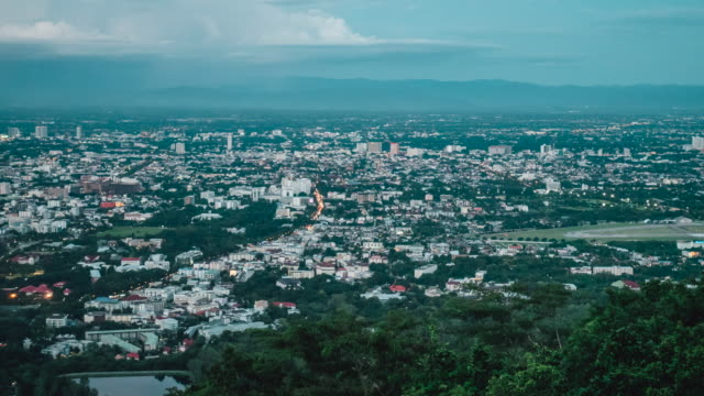 Viewpoint-Chiang-Mai-evening-Thailand-timelapse-
