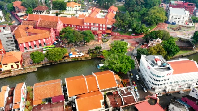 Aerial-view-of-Malacca-cityscape-at-daytime