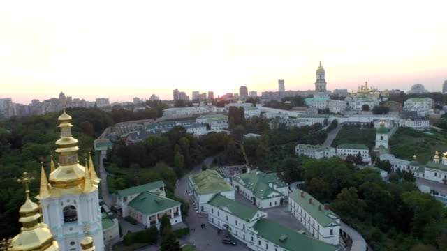 Aerial-view-of-Kiev-Pechersk-Lavra-monastery-Ukraine-Video-4k