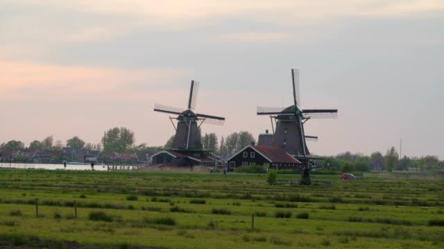 An-afternoon-shot-of-the-beautiful-village-of-Zaanse-Schans