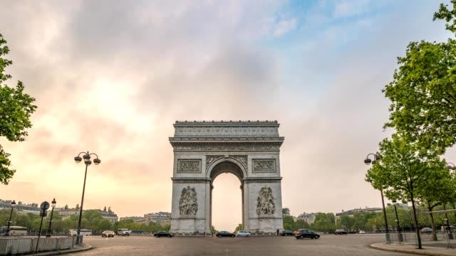 Paris-city-skyline-timelapse-at-Arc-de-Triomphe-and-Champs-Elysees-Paris-France-4K-Time-lapse