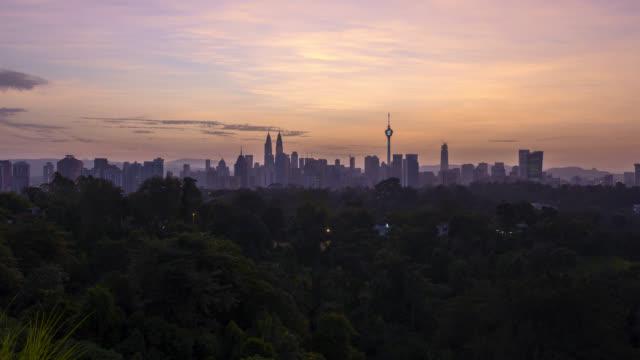 Dramatic-sunrise-over-Kuala-Lumpur-city-skyline