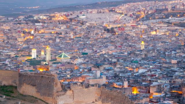 Fez-sunset-zoom-in-timelapse