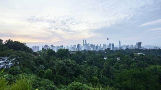 4k-UHD-time-lapse-of-dramatic-sunrise-over-Kuala-Lumpur