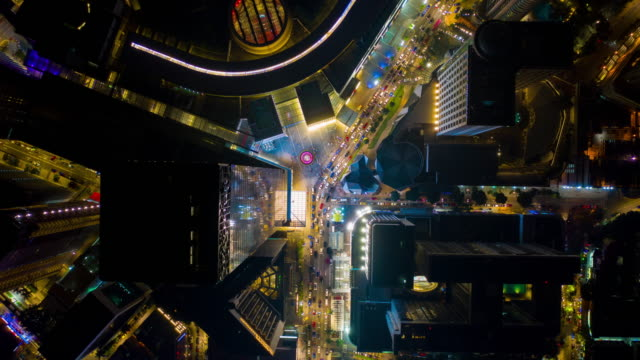 Nacht-Kuala-Lumpur-Verkehr-Kreuzung-aerial-Panorama-Zeitraffer-4k-Malaysia