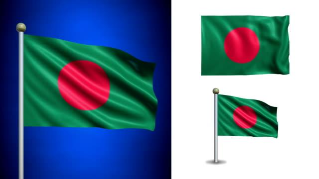 Bangladesh-bandera-con-canal-alfa-seamless-loop-