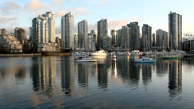 Yaletown-Towers-False-Creek-Reflections-Vancouver