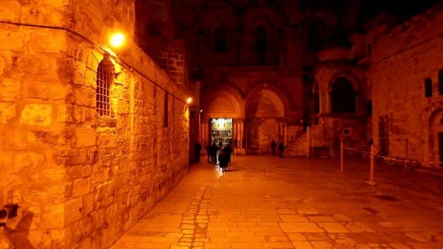 Church-of-the-Holy-Sepulchre-at-Night,-Jerusalem,-Israel