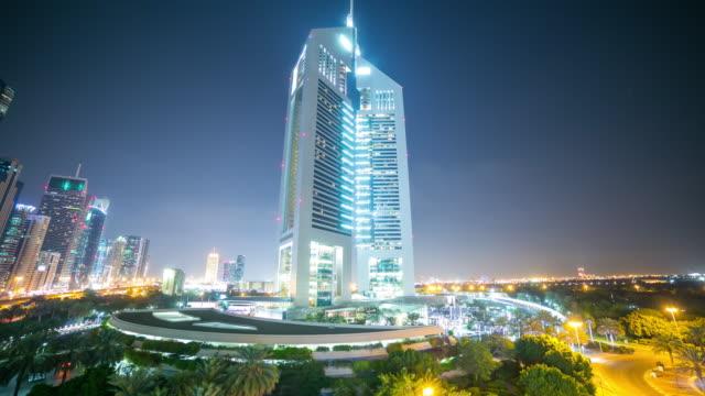 dubai-towers-night-light-time-lapse