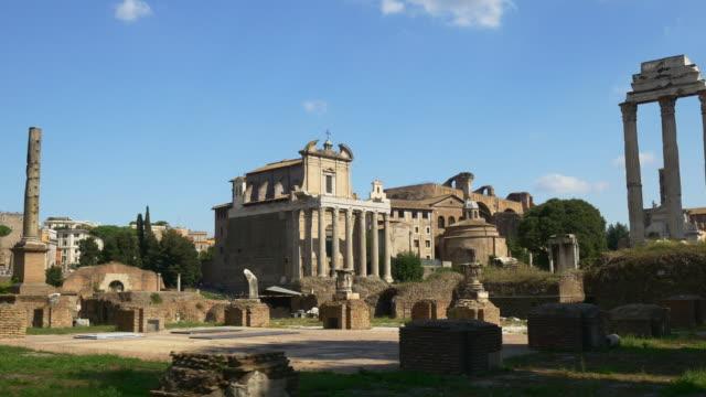 italy-rome-famous-roman-forum-summer-day-walking-panorama-4k