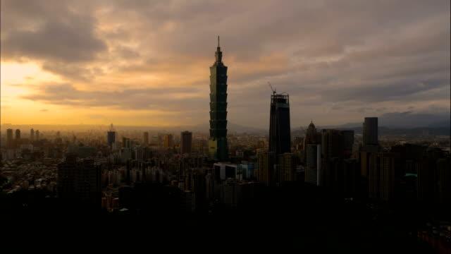 Timelapse-landscape-of-Taiwan-cityscape