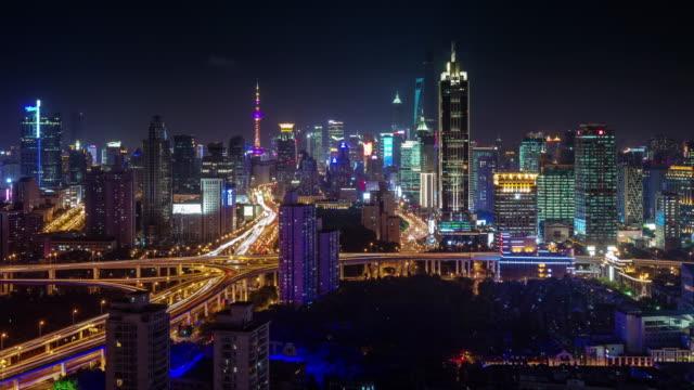 night-light-shanghai-interchange-and-buildings-panorama-4k-time-lapse