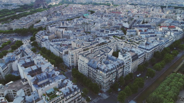 Aerial-view-of-Paris-with-Eiffel-tower
