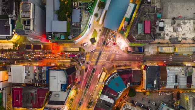 puesta-de-sol-kuala-lumpur-cruce-de-tráfico-aéreo-panorama-timelapse-4k-Malasia