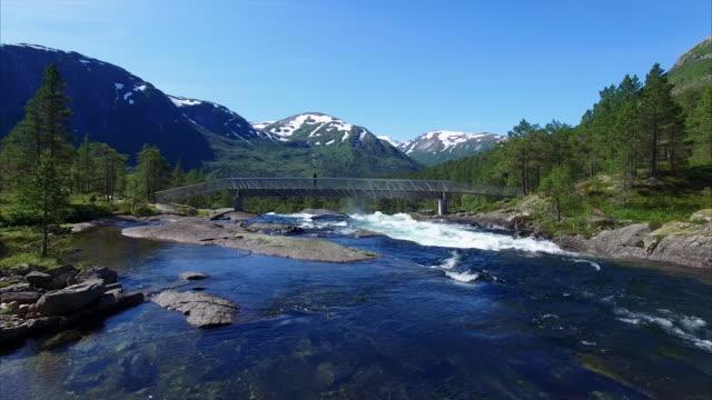 Chica-mirando-cascada-en-Noruega