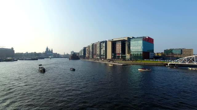 Bahía-de-Amsterdam,-vista-desde-arriba
