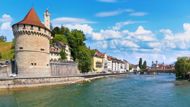 Arquitectura-del-casco-antiguo-de-Lucerna-Suiza