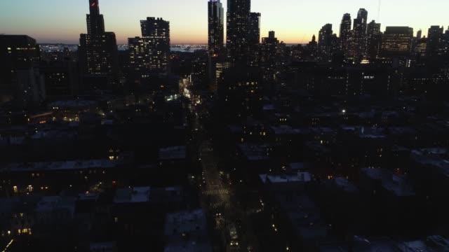 Antena-de-Downtown-Brooklyn,-Nueva-York