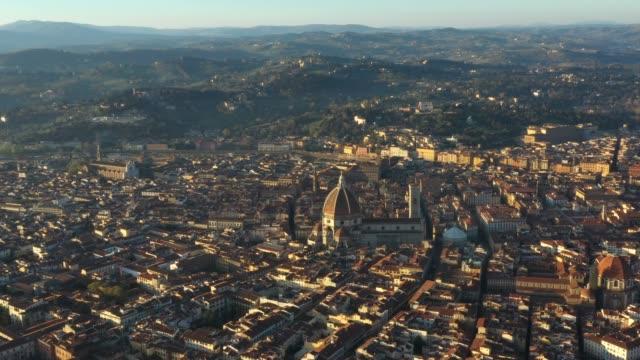 Santa-Maria-del-Fiore-from-Above-at-Sunrise